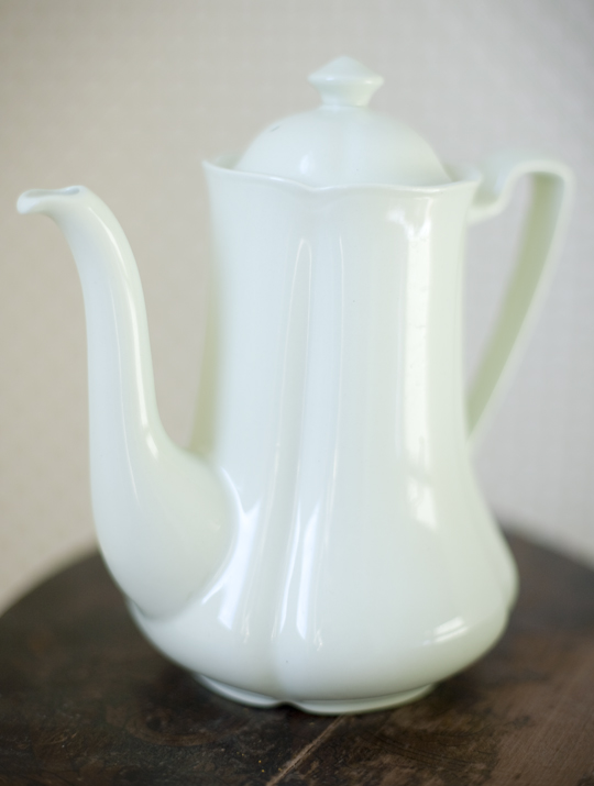 pale green coffee pot