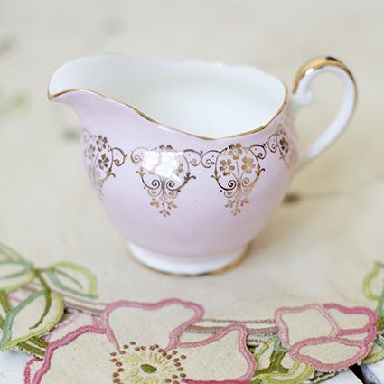 pink milk jug